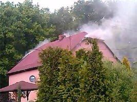Pożar domu w Jankowicach