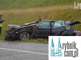 Wypadek na A1 w Świerklanach. Trzy osoby w szpitalu