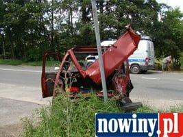 Wypadek motocyklisty w Świerklanach