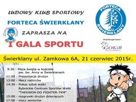 """Forteca Świerklany zaprasza na """"I Galę Sportu"""""""