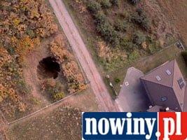 [WIDEO] Wielka dziura w Jankowicach. Zobacz film z lotu ptaka!