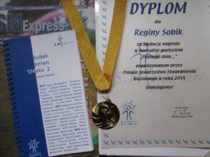 Kolejne sukcesy poetyckie Pani Reginy Sobik