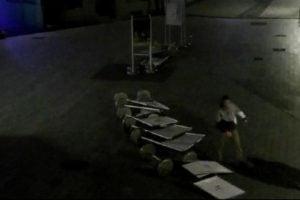 Demolka na deptaku w Rybniku. 19-letni mieszkaniec Świerklan przewracał wystawę fotografii