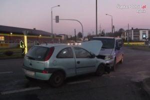 Stłuczka na skrzyżowaniu w Jankowicach