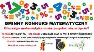 Konkurs filmowy z matematyką dla uczniów klas IV-VII