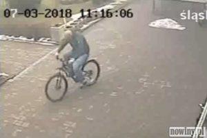 Zobacz jak złodziej kradnie rower w Świerklanach [FILM]